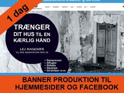 1 dags kursus - banner til hjemmeside og facebook