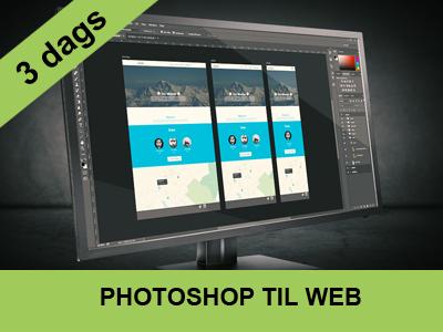 3 dags kursus - photoshop til web