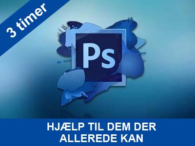 3 timers kursus hjælp til dem der allerende kan lidt i photoshop