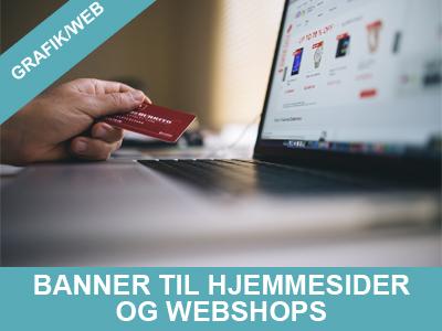 Banner til hjemmesider og webshops