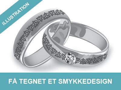 få tegnet dit smykkedesign hos Wolfdesign