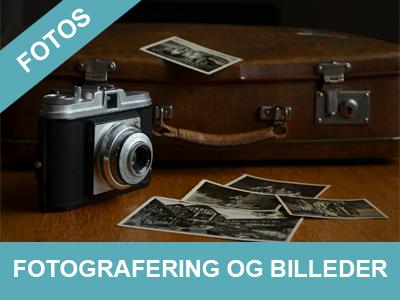 Vi tilbyder fotografering og billedredigering