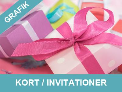 Få lavet dine egne kort og invitationer