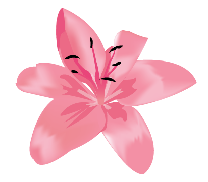 trekant illustration af en lilje fra Wolfdesign