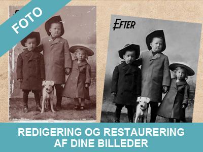 redigering og restaurering af din gamle billeder - næsten som ny igen