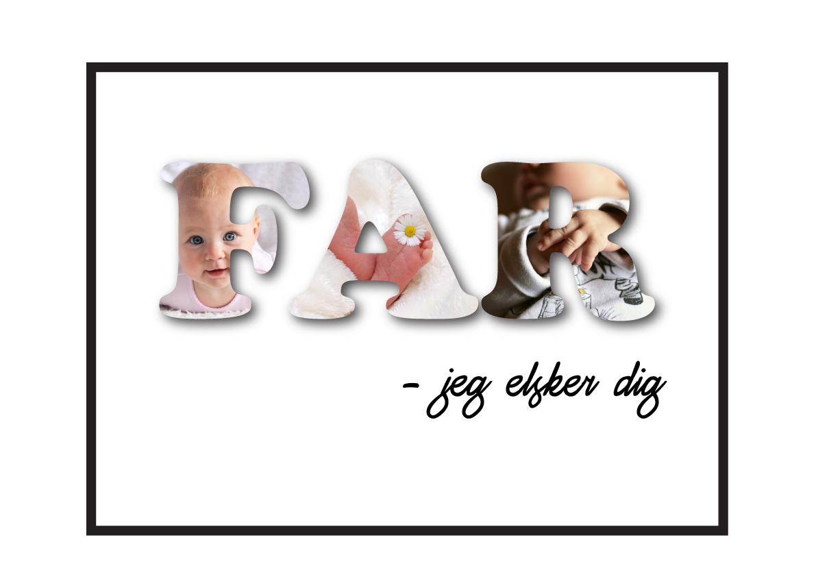 Far– Jeg elsker dig i farver speciale lavdet plakat fra Wolfdesign
