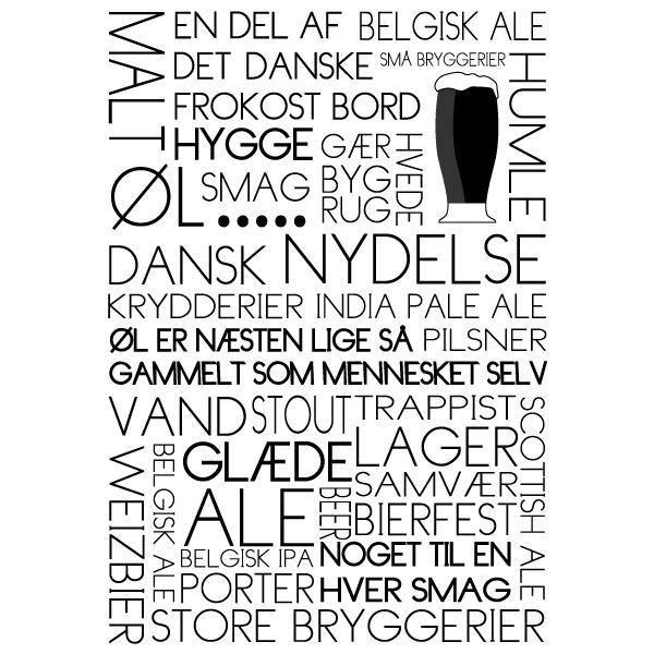 Øl - citater om øl fra Wolfdesign - Plakater om alkohol