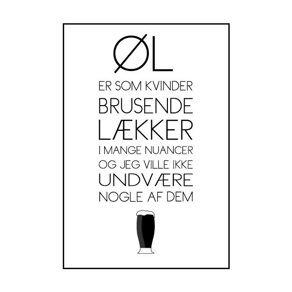 Kvinder er som øl - Øl plakat fra Wolfdesign