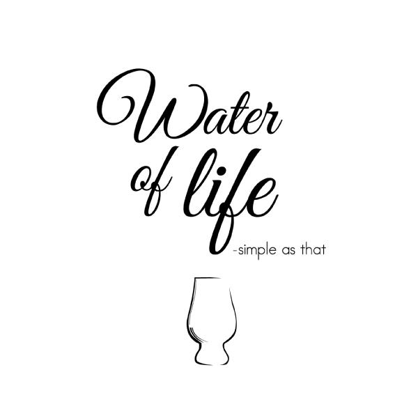whisky plakat - water of life fra Wolfdesign