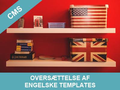 Oversættelse af engelske templates - wordpress hjemmesider