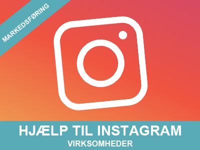 Hjælp til virksomheder med Instagram