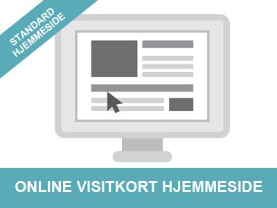 standard hjemmeside online visitkort hjemmeside fra Wolfdesign