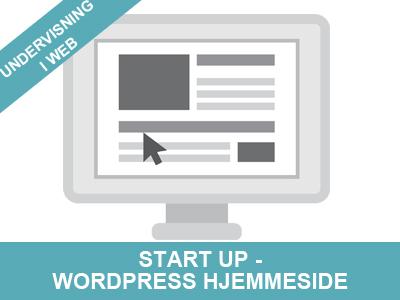 Start up Wordpress hjemmeside - kursus fra Wolfdesign