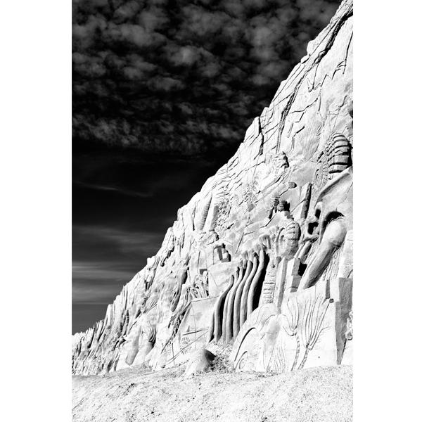Beach art - sort/hvid fotografi fra Wolfdesign - Plakater i flere størrelser