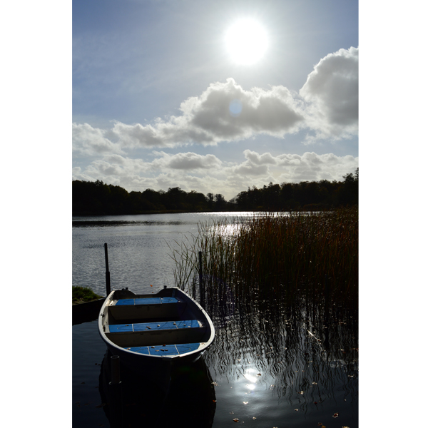 Båden - vand fotografi fra Jels søerne