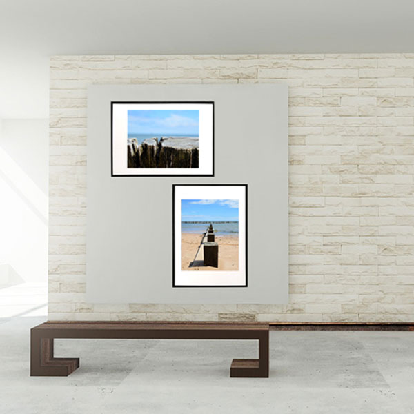 Sand, beach and wood sampack med 2 fotografier fra Wolfdesign - til dig der elsker stranden
