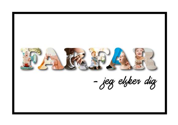 Farfar – Jeg elsker dig i farver speciallavet lavet plakater fra Wolfdesign