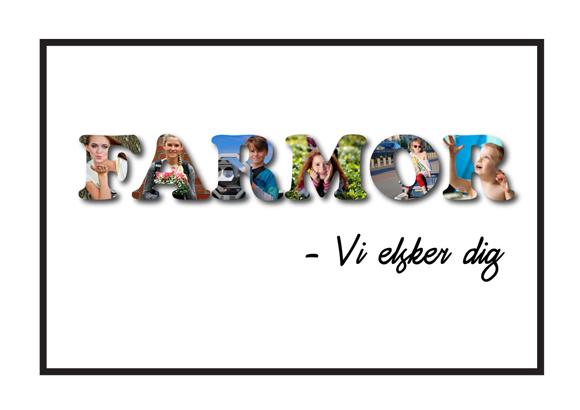 Farmor – Vi elsker dig i farver Få lavet en personlig gave til din farmor fra Wolfdesign