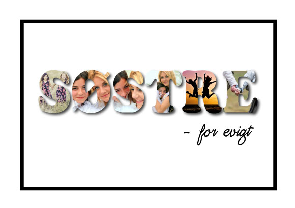 Søstre - for evigt i farver fra Wolfdesign - special lavet plakat til alle søstre