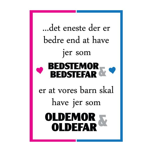 Bedstemor og bedstefar i skal være oldemor og oldefar - plakat fra Wolfdesign