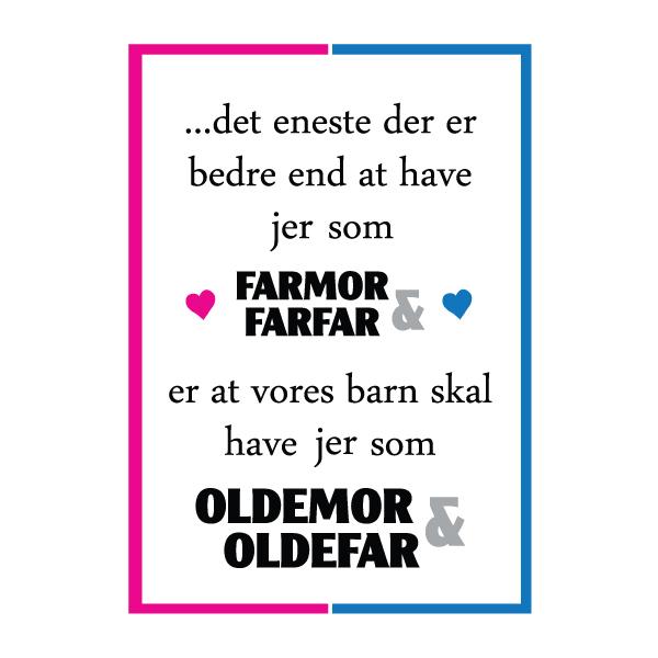 Farmor og farfar i skal være oldemor og oldefar - plakat fra wolfdesign