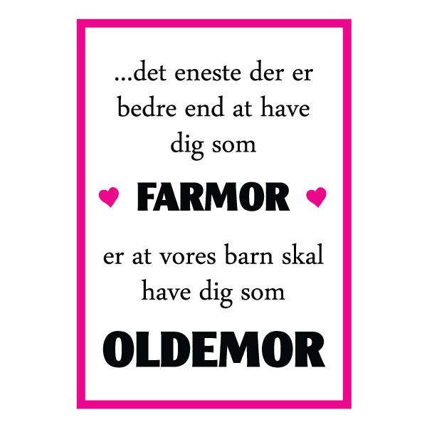 Farmor du skal være oldemor plakat fra Wolfdesign