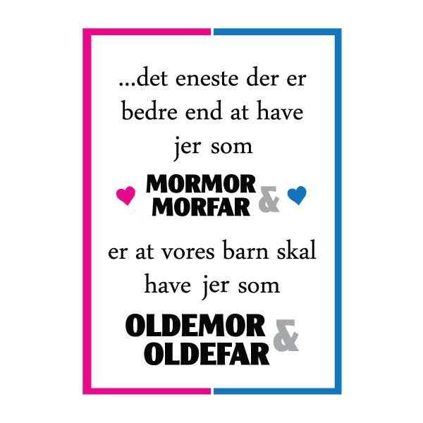 Mormor og morfar i skal være oldemor og oldefar - plakat fra Wolfdesign