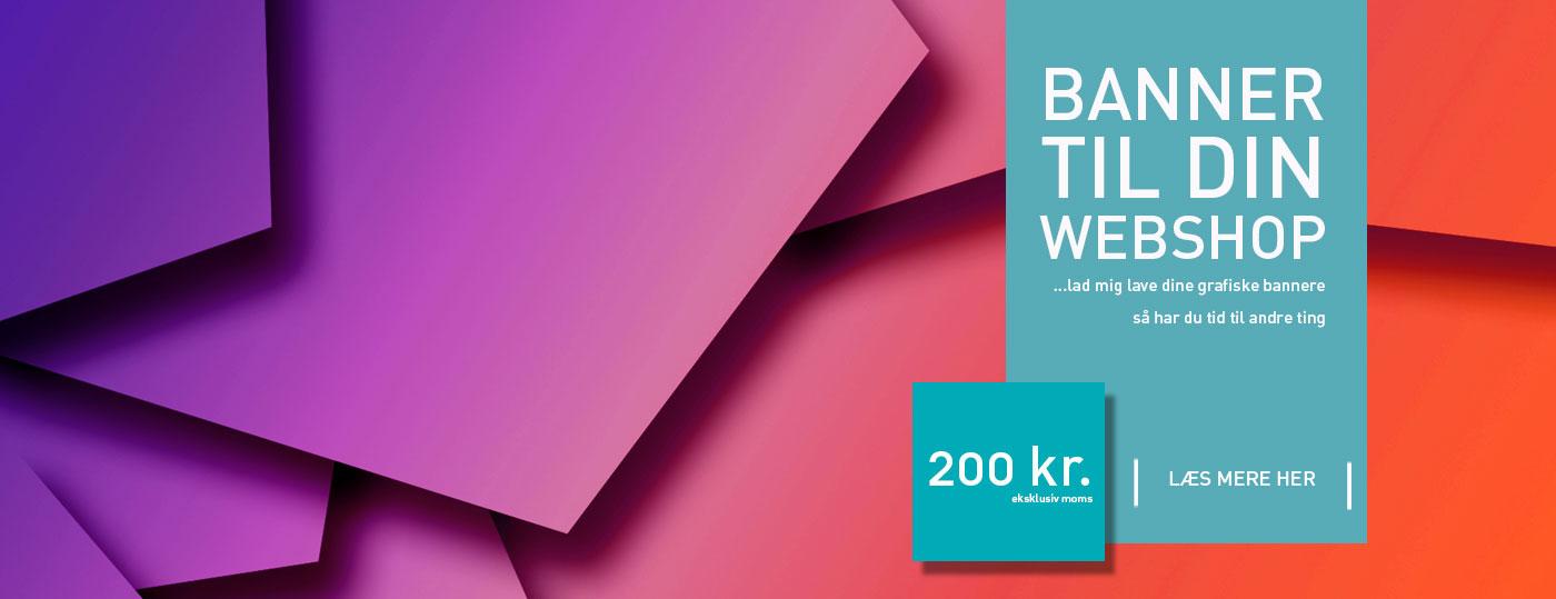 Banner til webshop - kun 200 kr. eksklusiv moms fra Wolfdesign